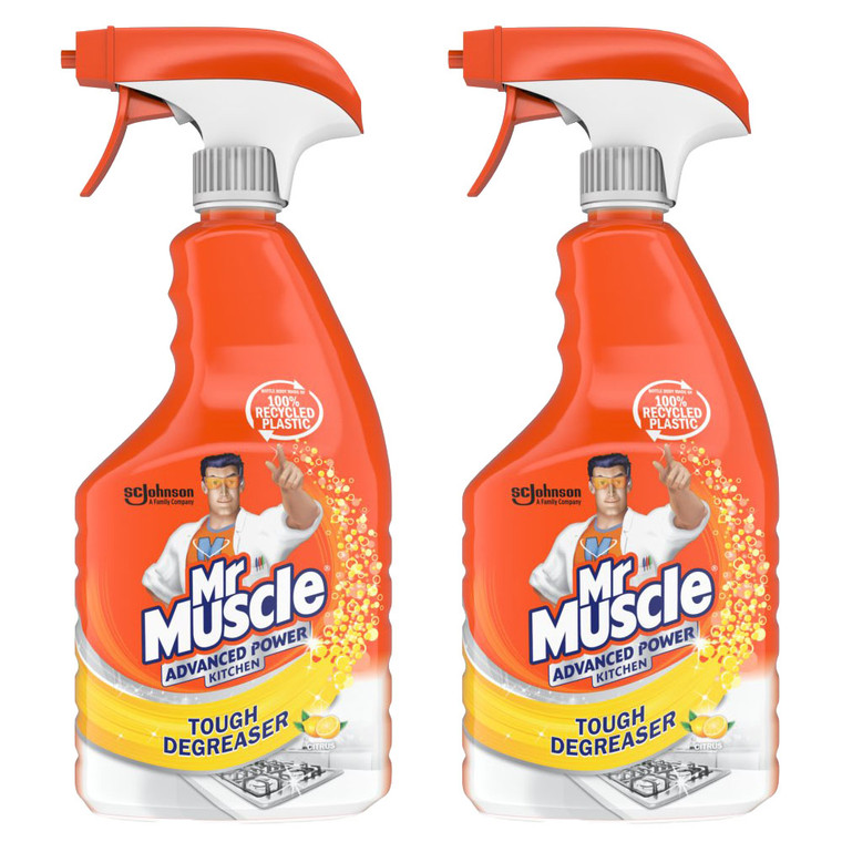 2 x 750ml Mr Muscle Kitchen Stove Hob Sink Tiles Cooker Cleaner Spray Degreaser