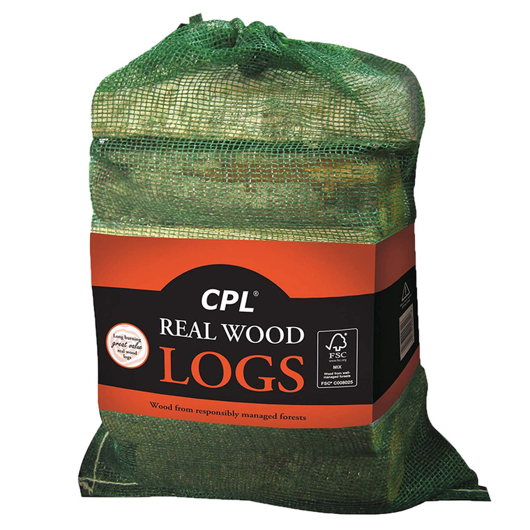 1 x Real Wood Logs Camping Opne Fire  Chimeneas Stoves Fireplace Long Burning