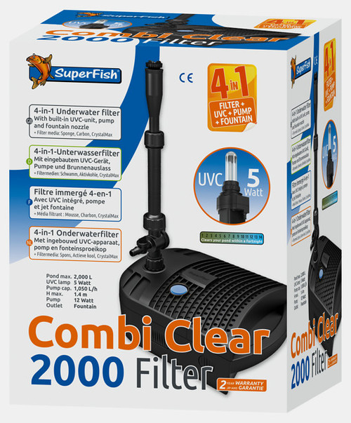 Superfish Combi Clear 2000 All In 1 Pond Filter boxed