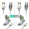 Cat6A RJ45 Connectors (6 Pack) For Cat6A up to 22AWG  S/FTP Ethernet Cable [Blue]