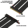 LINKUP {35 cm} PCIE 4.0/3.0 16x Riser Cable - GPU VGA Extender Expansion PCI Express   Extreme ShieldedHigh Speed Technology   Black   Left Angle