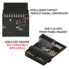 LINKUP USB 3.0 (3.1 Gen 2) Internal IDC 20 Pin Motherboard Header to A-Key 20 Pin Female Header Active Chip Converter for Type C Panel Mount Adapter