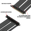 40 cm - PCIE 4.0/3.0 16x Extreme Shielded High Speed Riser Cable | 90 Degree Socket