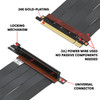 LINKUP - Ultra PCIe 4.0 X16 Riser Cable [RTX3090 x570 B550 RX6900XT Tested] Shielded Extreme High-Speed Vertical Mount Gaming PCI Express Gen4 2021┃Universal 90 Degree Socket {20cm} 3.0 Gen3 Compatible