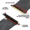30cm - Ultra PCIe 4.0 X16 Gen4 Riser Cable   90 Degree Socket   Gen3 Compatible
