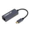 USB C to RJ45 Ethernet Adapter   10/100/1000BaseT LAN Network Dongle - Black