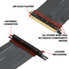 15cm - Ultra PCIe 4.0 X16 Riser Cable Extreme - 270 Degree Socket