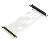 LINKUP - Ultra PCIe 4.0 X16 Riser Cable [RTX3090 x570 B550 RX6900XT Tested] Shielded High-Speed Vertical Mount Gaming PCI Express Gen4 2021┃Universal 90 Degree Socket┃White {50cm} 3.0 Gen3 Compatible