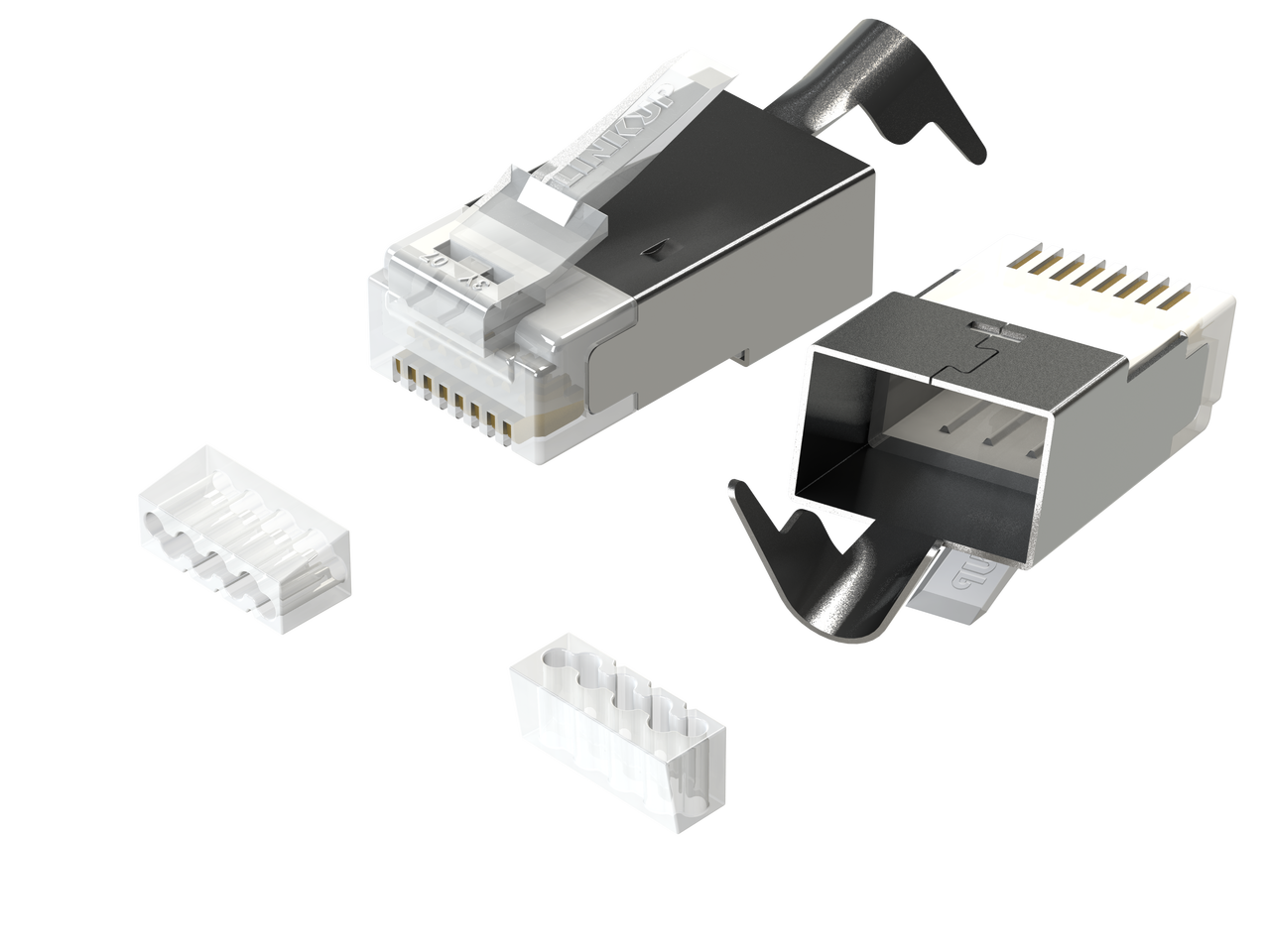 Pleasant Linkup Rj45 Connectors Cat6A Ethernet Shielded Modular Plugs For Wiring 101 Tzicihahutechinfo