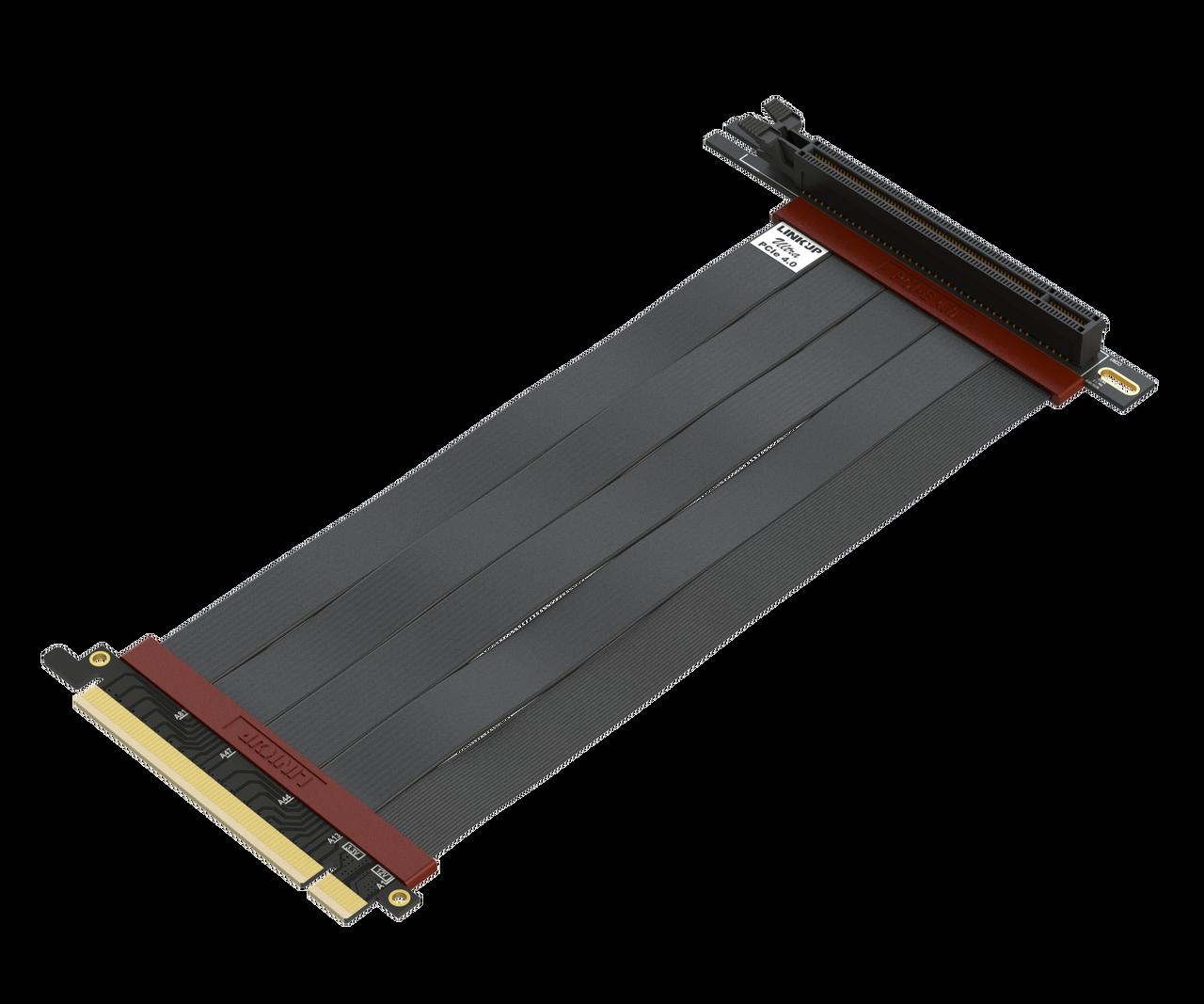 Ultra PCIe 4.0 X16 Riser Kabel Geschirmte Twinaxial Vertikale Steigleitung Portverl/ängerungs Gen4 RTX3080 x570 RX5700XT Getestet Gerade Buchse {20 cm} PCI Express 3.0 Gen3 und TT Kompatibel LINKUP