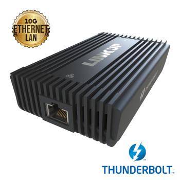 LINKUP | [Certified] Thunderbolt 3 to 10 Gigabit Ethernet RJ45 LAN Adapter | Length - 28 AWG | Cord Dock Connector Converter | Macbook Pro Dell XPS 13 15