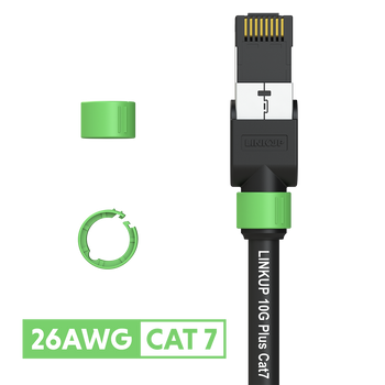 Cat 7 26AWG Cable Identifier Coloured Rings - Green (50 Pack)