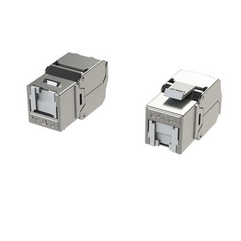 [LINKUP] RJ45 Connectors Cat6A (6 Pack) Shielded Keystone Jack Metal Die-Cast Field Modular Termination | 10G Easy Internet Tool Free Jacks | For Cat6A up to 22AWG Solid Bulk S/FTP Ethernet Cable