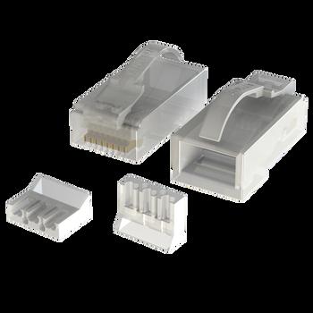 [LINKUP] Snagless RJ45 Cat6 UTP Connectors | Ethernet Cat 6 8P8C Plugs | UTP Gigabit Round Cable Connector | Platinum 50 Mi Gold Plated High Performance | 50 Pack