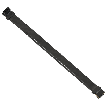 LINKUP Z-Shaped Flexible SLI Bridge GPU Cable Extreme High-Speed Twin-axial Technology Premium Shielding 100ohm Design for nVidia GPUs Graphic Cards - Reversed Connectors [30 cm]