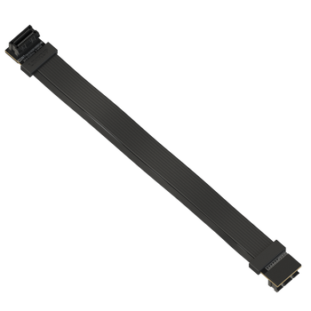 LINKUP Z-Shaped Flexible SLI Bridge GPU Cable Extreme High-Speed Twin-axial Technology Premium Shielding 100ohm Design for nVidia GPUs Graphic Cards - Reversed Connectors [20 cm]