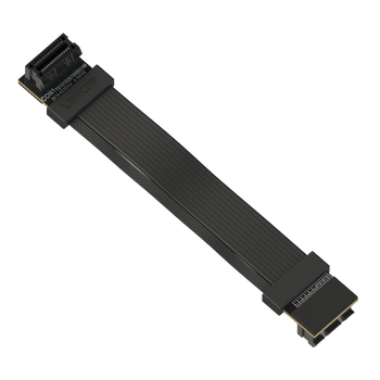 LINKUP Z-Shaped Flexible SLI Bridge GPU Cable Extreme High-Speed Twin-axial Technology Premium Shielding 100ohm Design for nVidia GPUs Graphic Cards - Reversed Connectors [10 cm]