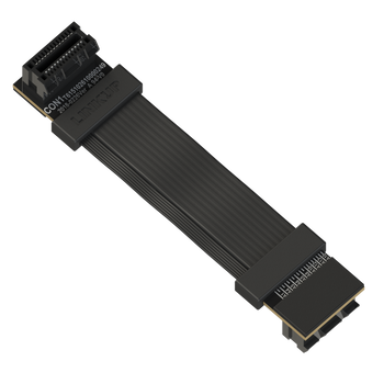 LINKUP Z-Shaped Flexible SLI Bridge GPU Cable Extreme High-Speed Twin-axial Technology Premium Shielding 100ohm Design for nVidia GPUs Graphic Cards - Reversed Connectors [6 cm]