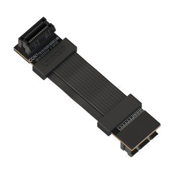 LINKUP Z-Shaped Flexible SLI Bridge GPU Cable Extreme High-Speed Twin-axial Technology Premium Shielding 100ohm Design for nVidia GPUs Graphic Cards - Reversed Connectors [4 cm]