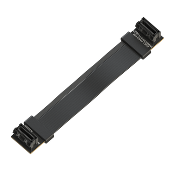 LINKUP Flexible SLI Bridge GPU Cable Extreme High-Speed Twin-axial Technology Premium Shielding 100ohm Design for nVidia GPUs Graphic Cards - [10 cm]
