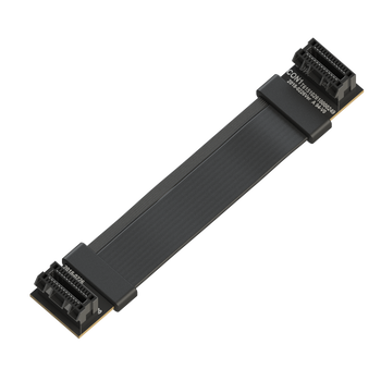 LINKUP Flexible SLI Bridge GPU Cable Extreme High-Speed Twin-axial Technology Premium Shielding 100ohm Design for nVidia GPUs Graphic Cards - [8 cm]