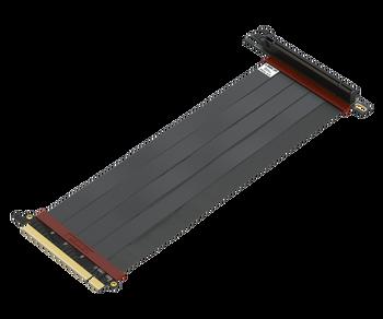 25cm - Ultra PCIe 4.0 X16 Gen4 Riser Cable | 90 Degree Socket | Gen3 Compatible