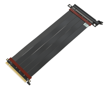 25cm - Ultra PCIe 4.0 X16 Gen4 Riser Cable | Straight Socket | Gen3 Compatible