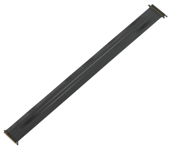LINKUP {125 cm} PCIE 3.0 16x Shielded High Speed Riser Cable Premium PCI Express Port Extension Card   Straight Socket