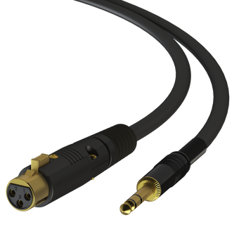 LINKUP - 3ft - XLR TRS 1/4 Microphone Cable - Pro Audio Cable 22Awg Audiophile Quality Silver Coated Wire - 24K 50μ Gold-Plated Heavy-Duty Heutrik Connector Adapter