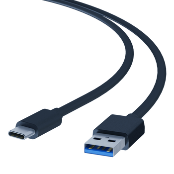 LINKUP - USB 3.1 Type A (USB-A) Male to USB 3.1 Type C (USB-C) Male Data Link Sync Cable - 24K 50μ Gold-Plated Pins Compatible with Docks Docking Stations MacBook Pro Surface - 3 ft