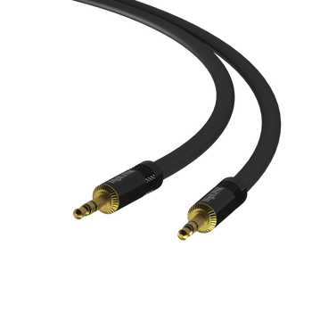 3 ft - 3.5mm Male to Male - Pro Audio Cable 22Awg Audiophile Quality - 24K 50μ Gold-Plated Heavy-Duty Heutrik Connector Adapter