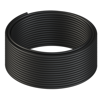 LINKUP - Cat8 Ethernet Cable S/FTP 22AWG Screened Solid Cable | 2000Mhz (2Ghz) up to 40Gbps | Future 5th-Gen Ethernet LAN Network 40G Structure Wires - |Black| 50 Meter Bulk (Termination Required)