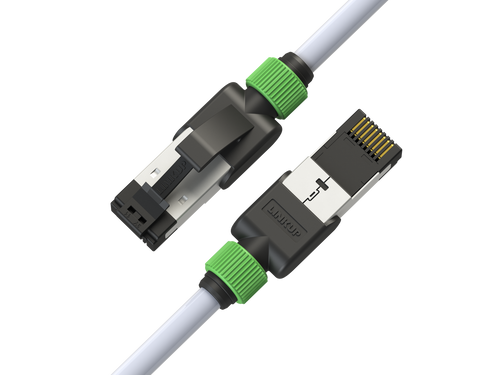 Cat7 Ethernet Patch Cable/s -7 FT (2 Pack) 10G Double Shielded S/FTP