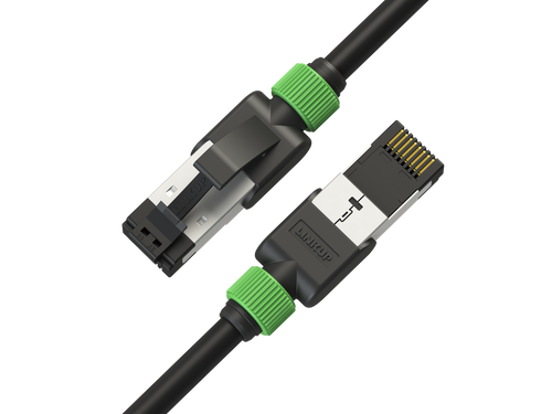 Cat7 Ethernet Patch Cable/s-7 FT (2 Pack) 10G Double Shielded S/FTP