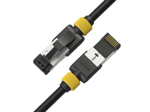 Cat7 Ethernet Patch Cable/s -5 FT (3 Pack) 10G Double Shielded S/FTP