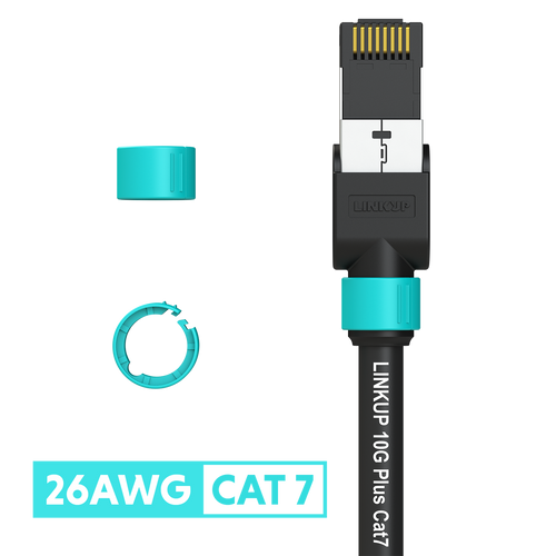 Cat 7 26AWG Cable Identifier Coloured Rings - Aqua (50 Pack)