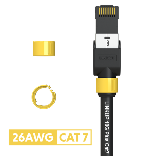 Cat 7 26AWG Cable Identifier Coloured Rings - Yellow (50 Pack)