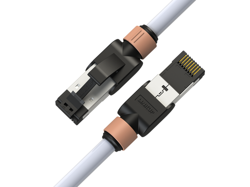 Cat7 Ethernet Patch Cable/s - 2 FT (1 Pack) 10G Double Shielded S/FTP