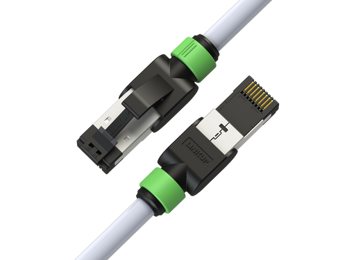 Cat7 Ethernet Patch Cable/s - 7 FT (2 Pack) 10G Double Shielded S/FTP