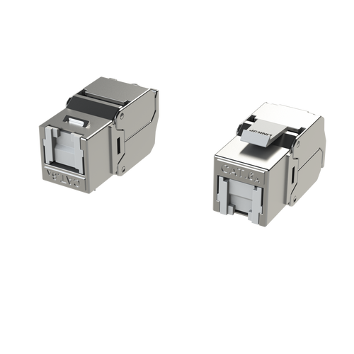 Cat6A RJ45 Keystone Connectors (2 Pack) For Cat6A Cables up to 22AWG S/FTP
