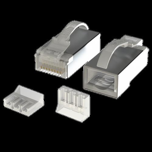 Cat6 Snagless RJ45 STP Connectors | 8P8C |  50 Pack