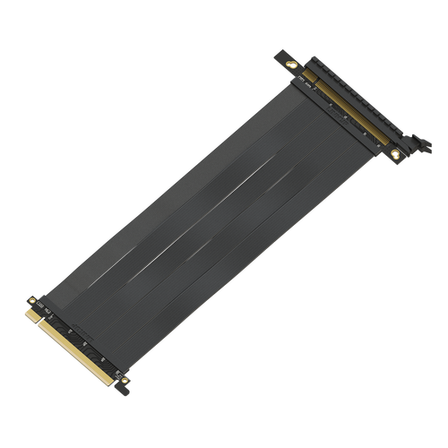 25 cm - PCIE 3.0 16x Shielded Riser Cable Premium | Straight Socket