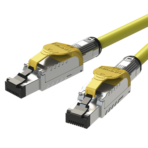 Cat8 Ethernet Patch Cable S/FTP 22AWG Double Shielded   40Gbps   2 M (6.7 FT)