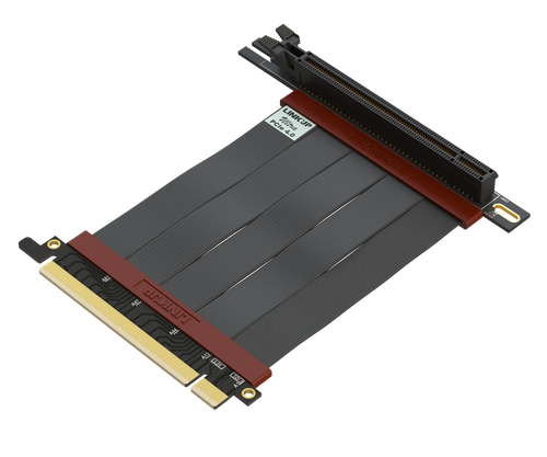 10cm - Ultra PCIe 4.0 X16 Gen4 Riser Cable | 90 Degree Socket | Gen3 Compatible