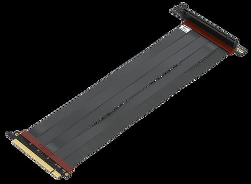 30cm - Ultra PCIe 4.0 X16 Gen4 Riser Cable | 90 Degree Socket | Gen3 Compatible