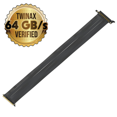 75cm - PCIE 3.0 16x Shielded High Speed Riser Cable Premium | Straight Socket