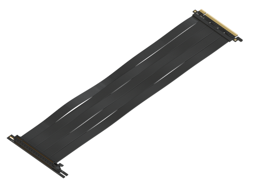 40cm - PCIE 3.0 16x Shielded High Speed Riser Cable Premium | 90 Degree Socket
