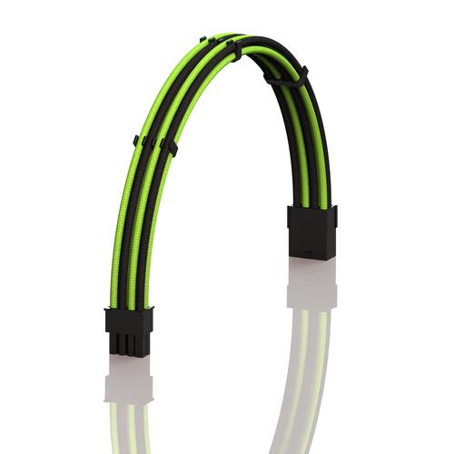 PSU Cable Extension Single Pack | 1x 8 P (6+2) GPU | 30CM  - GreenBlack