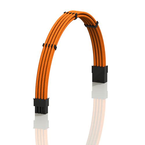 PSU Cable Extension Single Pack | 1x 8 P (6+2) GPU | 30CM  - Orange