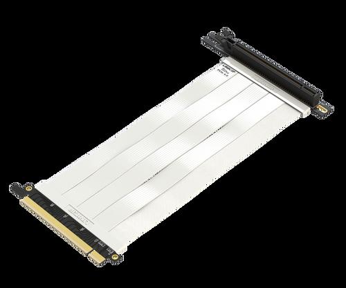 30cm - Ultra PCIe 4.0 X16 Riser Cable Extreme - 90 Degree Socket - White